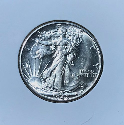 1942 D 50¢ Walking Liberty Half Dollar MS63