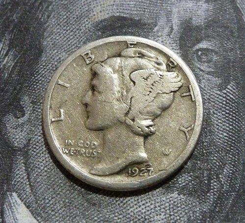 1927 S VF Mercury Dime  Grades as a Very Fine ( 19183 )