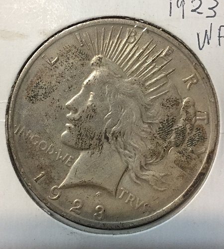 2 Lustrous 1923 Peace Dollars