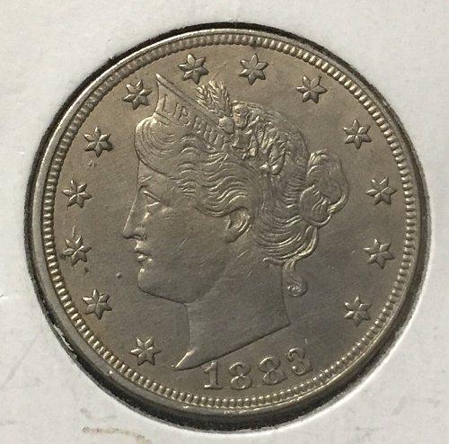 Liberty No Cents Nickel XF