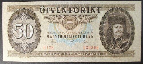 Hungary P170f 50 Forint UNC63