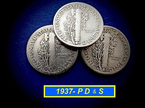 "1935 YEAR SET ☆ 'P' 'D' & 'S' Coins ☆ ""Circulated"""" ☆  (#3977)a"