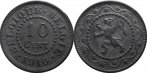 Belgium 1916 10 Centimes       0223