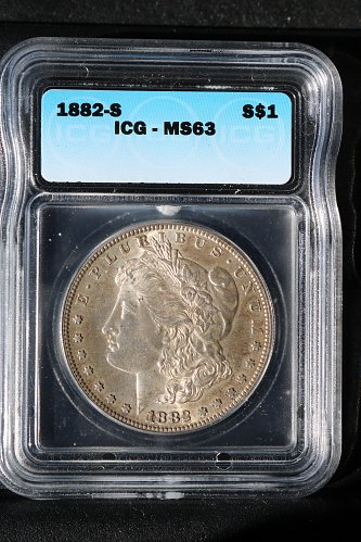 1882 s graded coin