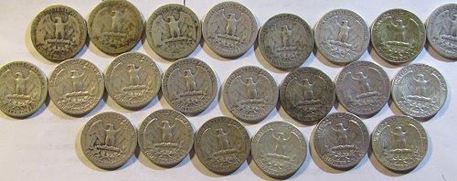22 Silver Quarters1932,38,39-S,40,41-S,41,42,46,47,50,51,51-D,54,55,57-D,59-D,60