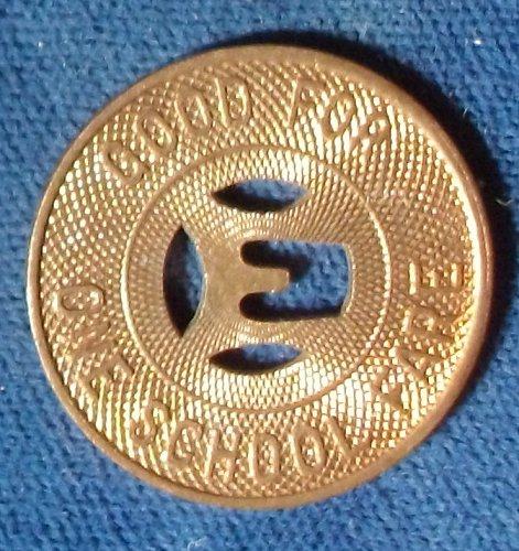 Elmira Motor Coach Corp., Fare Token, New York