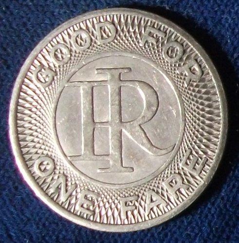 Indiana Railroad Fare Token