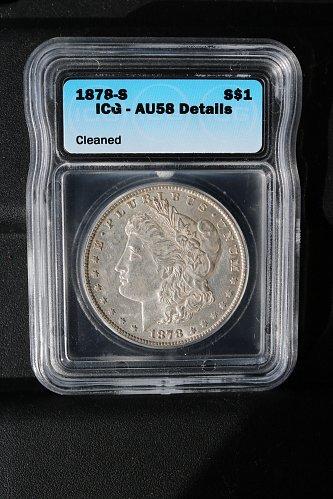 1878-s Morgan dollar in great condition