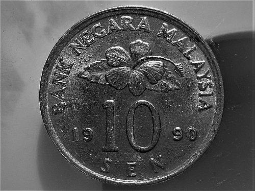 Malaysia 1990 10 sen error?