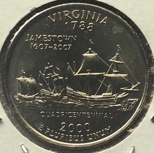 2000 D Virginia 50 States and Territories Quarters