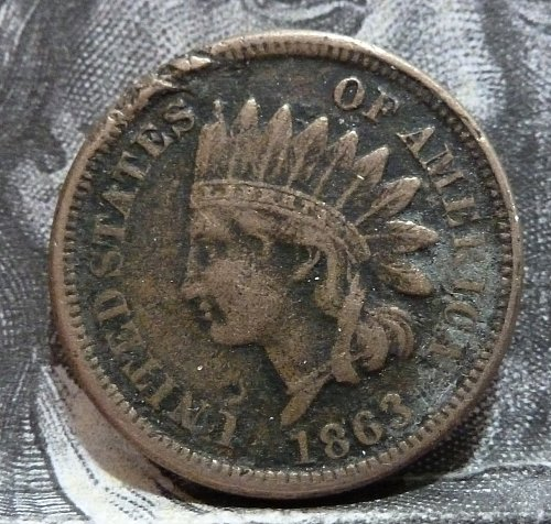 1863 Indian Cent Grades Extra Fine with Issues( 19223 )