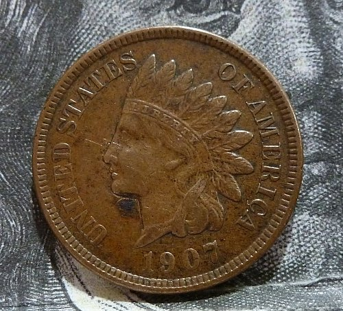 1907 XF Indian Cent Grades Extra Fine (19237)