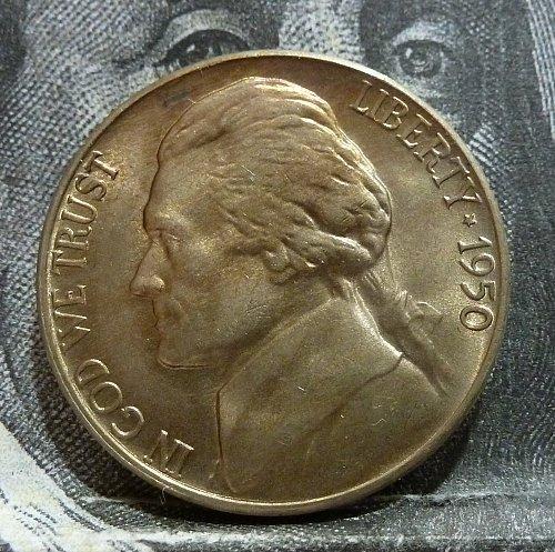 1950 D BU Jefferson Nickel with FULL Steps # 19268