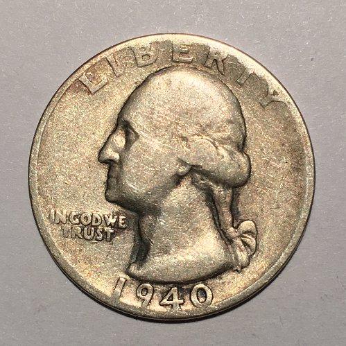 1940 S Silver Quarter