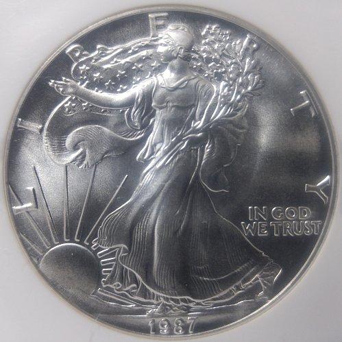 1987-P AMERICAN SILVER EAGLE BUILLION
