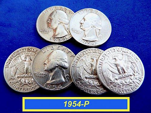 "1954-P  ""VF"" SIlver Quarters ☆ (#2066)a"