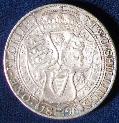 1896 Great Britain Florin VF