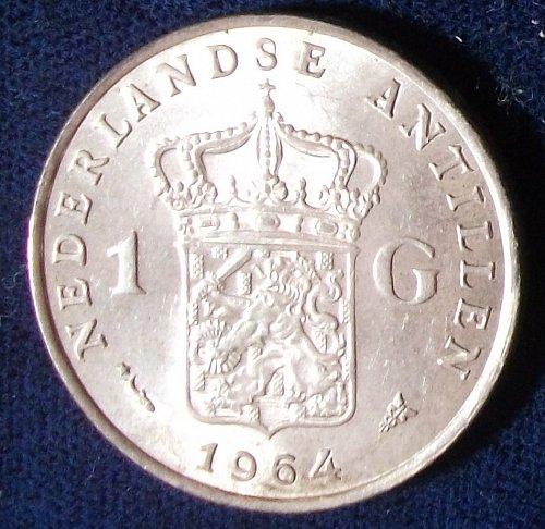 1964 Fish and Stars Netherlands Antilles Gulden UNC