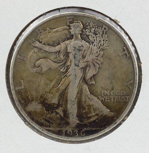 1936-S Walking Liberty Half Dollar VF20