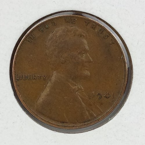 1941 Lincoln Cent EF40, Double Die Obverse FS-102
