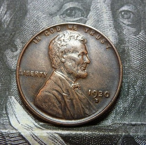 1930 D BN Uncirculated Lincoln Wheat Cent  ( 19268 )