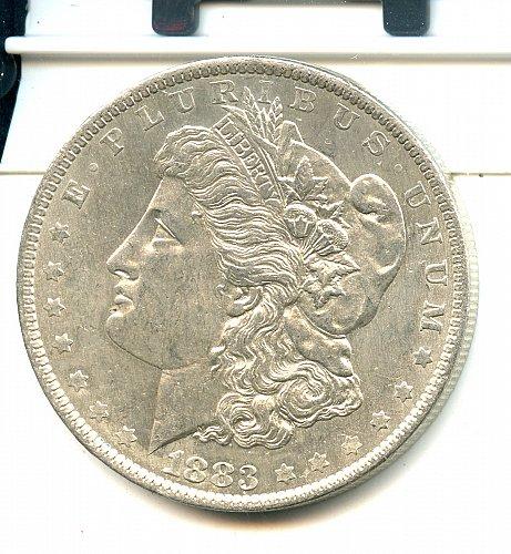 1883 O Morgan Dollar New Orleans silver Ch /bu