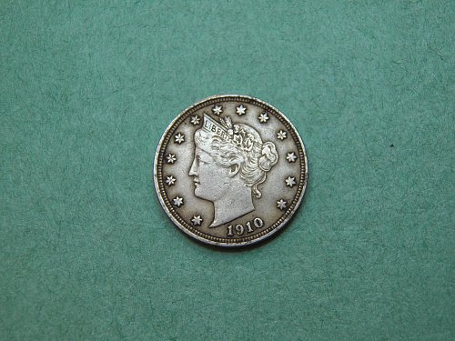 1910 Liberty V Nickel Very Fine Coin p39