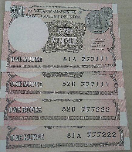 2015.. &  2016..UNC..India one Rupee