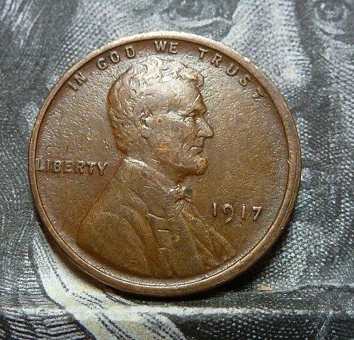 1917 P Very Fine Lincoln Wheat Cent  ( 19521 )