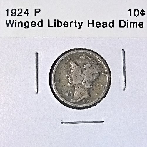 1924 P Winged Liberty Head Dime - 6 Photos!