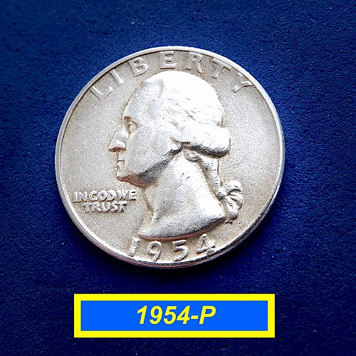 "1954-P  ""VF"" SIlver Quarters ☆ (#2154.2)a"