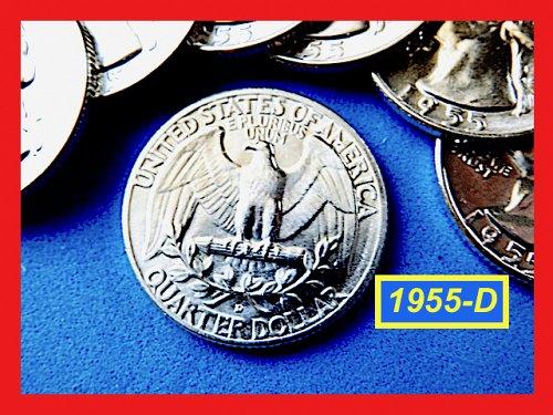 """Beautiful 1955-D  Quarter ☆ """"Brilliant Uncirculated"""" ☆ """"MS-64"""" (#2735.18)a"""