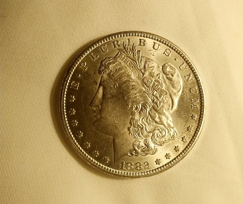 Uncirculated 1882 cc.beautiful coin.mint condition.would love to keep it,but I c