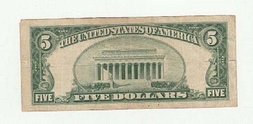 1953 $5 Five Dollar Red Seal Note Bill US Currency Banknote