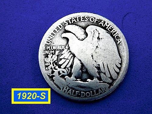 1920-S Walking Liberty  ☆ Circulated ☆ (#1059)a