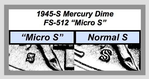"""1945-S """"MICRO S"""" ☆ Variety #FS-512  ☆ """"VF-XF"""" ☆  (••3699)a"""