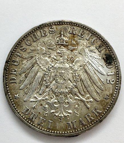 1912 E 3 Marks - Saxony