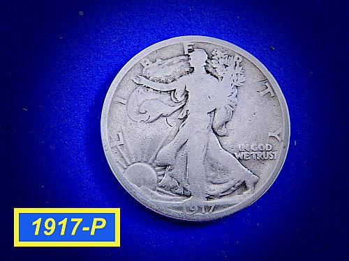 1917-P Walking Liberty  ☆ Circulated ☆ (#1072)a