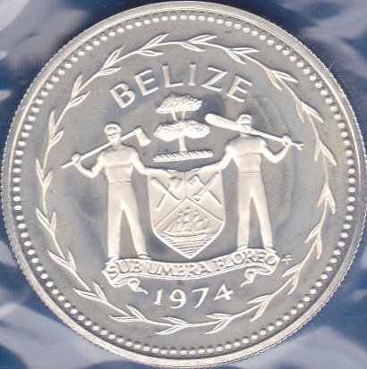 Belize 1974, Dollar (silver)