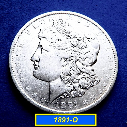 1891-O   Morgan Silve Dollar ☆ (#5883)b