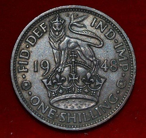 1948 Great Britain shilling
