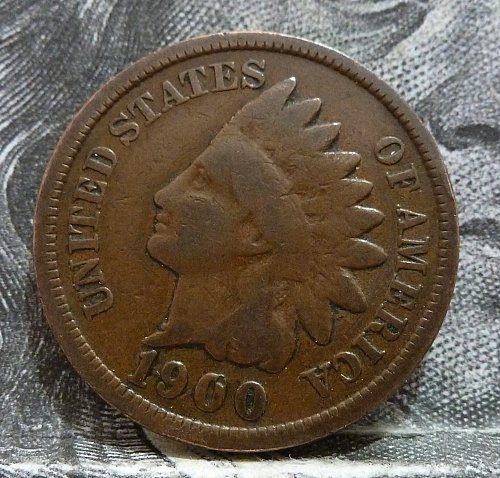 1900 Indian Cent Grades GOOD ( 8073 )