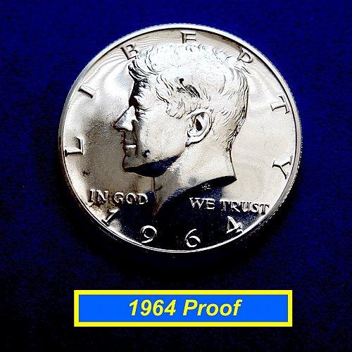 1964 PROOF  Kennedy Half  ☆  90% Silver ☆ (#1194)a