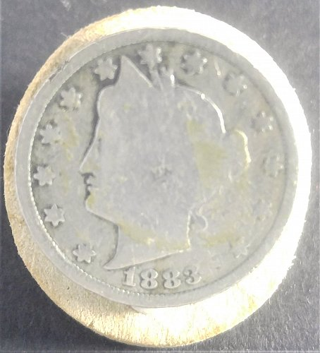 1883-P LIBERTY NICKEL: WITH CENTS ON REVERSE