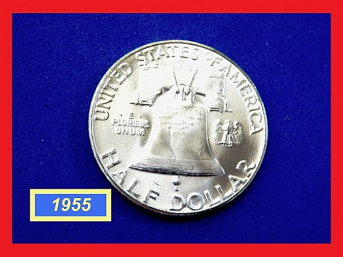 Gorgeous 1955-P  Franklin Half  ☆  Mint State Frosty BU Coin  ☆  (#1918.c)a