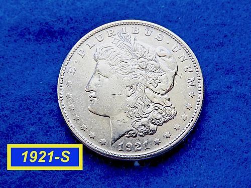"""1921-S Morgan Silver Dollar ☆ """"Extra Fine"""" ☆ (#5411)a"""