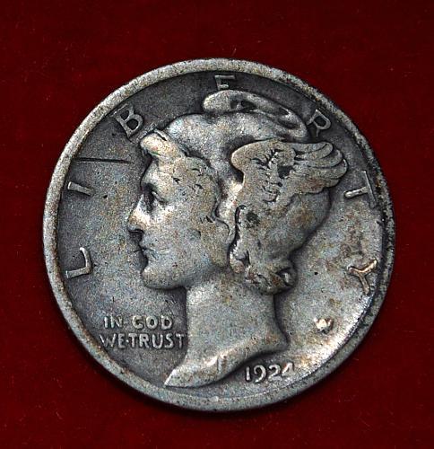 1924 P Mercury Dimes