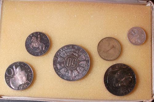 1964 Austria Proof Set, 9 Coin Set