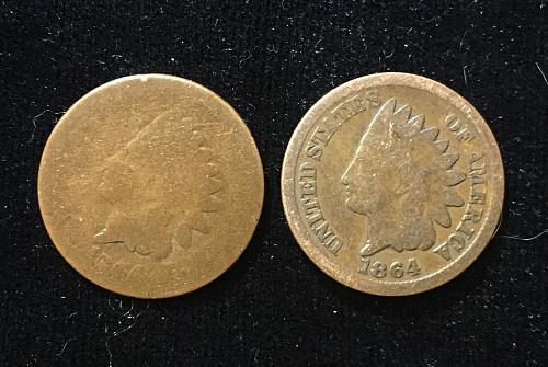 1864 Indian Head 45d Rotated Die + Bonus