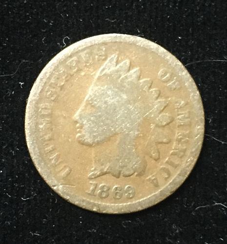 1869 IndianHead Cent You Grade